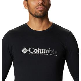 Columbia Lookout Point T-shirt met print Heren, black omni dots